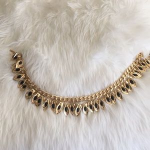 Gold and black bebe necklace